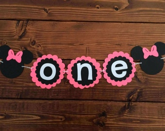 Minnie Mouse First Birthday Banner