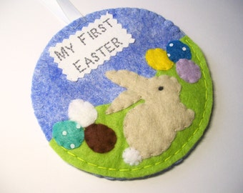 My first easter etsy my first easter ornament baby keepsake hand sewn easter gifts gifts for baby negle Gallery