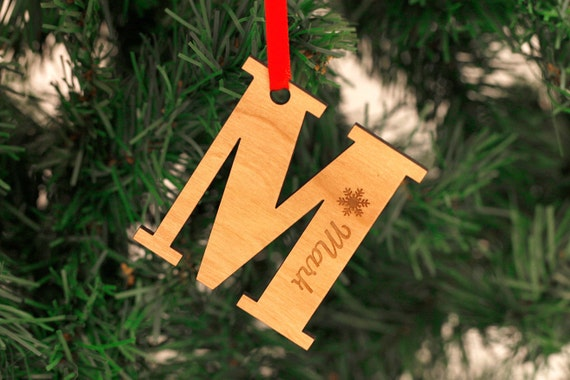 Personalised Christmas Ornaments - Engraved Christmas Ornaments - Christmas Tree Decorations - Christmas Gifts - Any Engraved Letter
