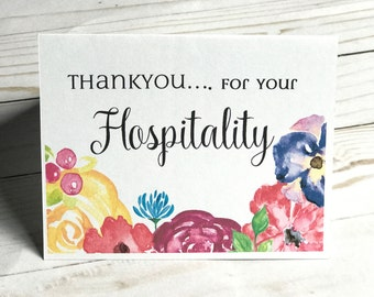 Thank you for your Hospitality