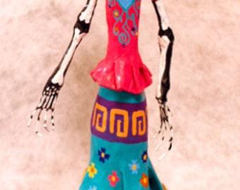 Catrina Frida Kahlo, catrina, wrist oacaquena. catrina Oaxaca, mexican folk art