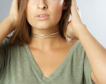 Layered Gold Choker, High Fashion Gold Neck Ring, Layering Choker Necklace, Designer Necklace, Gold Neck Ring, Gold Cuff Necklace, Collar
