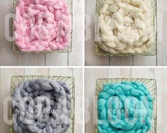 Basket Stuffer, Basket Filler, Newborn Braid, Newborn Photo Prop, Newborn Props, Wool Basket Stuffer, Photo Prop, Photography Props