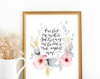 Scripture Print: Love Made Complete
