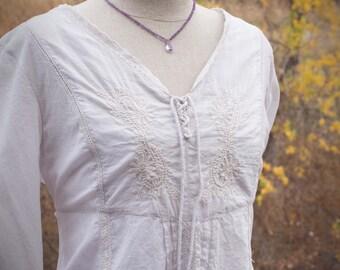 Silk Gemstone Necklace, Amethyst Necklace, Ombre Necklace, Knotted Silk Gemstone Necklace, Knotted Amethyst Necklace, Purple Necklace, Pink