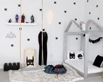 Batman wall decals for boys / bat mask / superhero wall stickers / batman bedroom / boys wallpaper / Vinyl Stickers / fake wallpaper / decal
