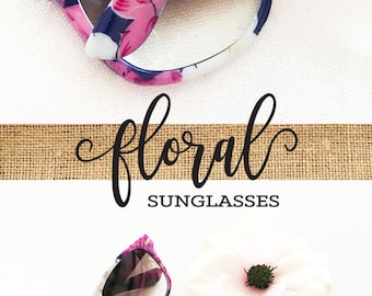 Floral Bachelorette Sunglasses Floral Bridal Shower Decor Bride Tribe Sunglasses Bachelorette Party Favors Aloha Bachelorette (EB3203TRB)