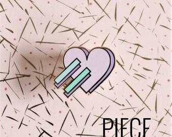 90's Heart Hard Enamel Pin