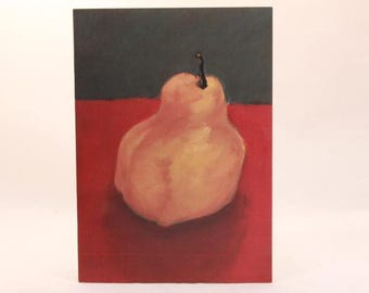 Greeting Card by Flavia. Artist Erika Carter. 1 Card and 1 Envelope Included. Pear