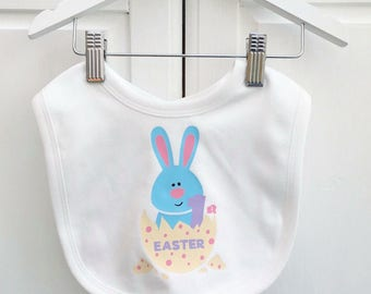 Personalised easter treat bag easter gift drawstring bag 1st easter bib baby easter gift personalised easter gift uk negle Image collections