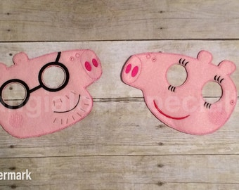 Mummy and Daddy Peppa Pig Inspired Masks/Child/Adult/Costume/Pretend Play/Cosplay/Party Favor/Halloween Costume/Photo Booth