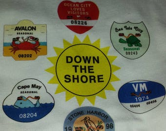 New Jersey Shore Beach Badge Toddlers T-shirt