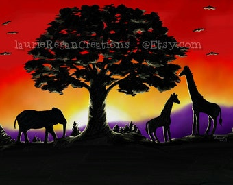 Instant download African Sunset