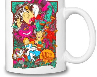 Alice in Wonderland Inspired Picture Mug