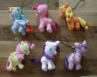 My little Pony amigurumi charms