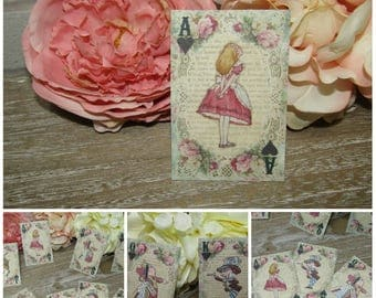 8 Alice in Wonderland Playing Card Style Gift Tags/Toppers/Favors/Wedding Party,Crafts,Scrapbooking