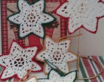 SALE ! Crochet Stars set of6,Crochet Christmas,Crochet Holiday Decor,Crochet Christmas Ornament,Crochet Christmas Decoration,Christmas Gift