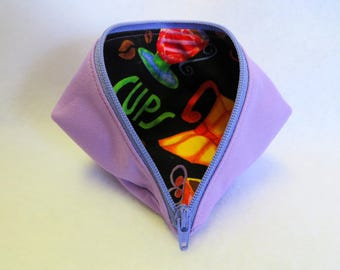 Cosmetic Bag - Sweet Pea Pod - Gift Bag - Coin Purse - Zipper Pouch - Mini Storage Pouch - Fabric Pouch - Wonder Clip Bag - Sewing Pouch