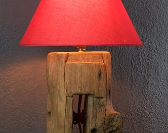 Old Oak Barn Beam Lamp