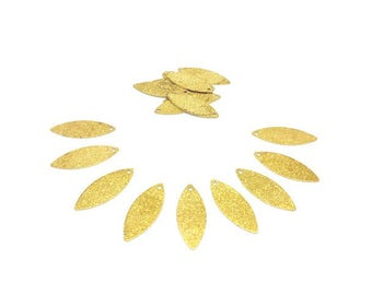 30 charms form Olive Stardust gold 25mm