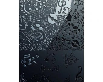 Music texture plate to paste FIMO SCULPEY CERNIT - texture sheet Music for polymer clay