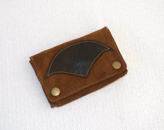 Wild Tribe - Tobacco pouch in brown leather, confounded tobacco in brown leather, brown pouch