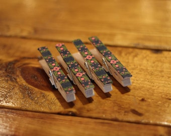 Set of Four Clothespin Magnets