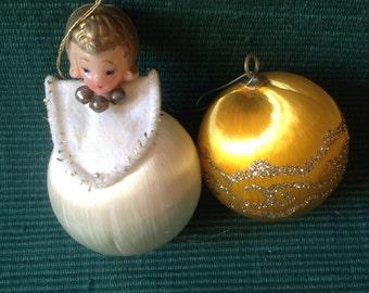 Vintage satin ornaments