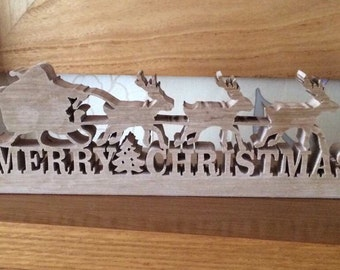 Wooden Merry Christmas ornament