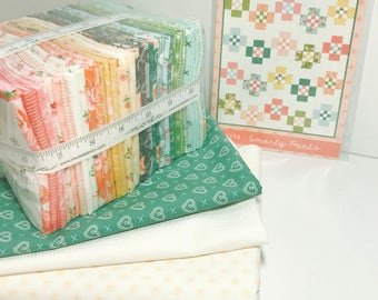 "Smarty Pants Quilt Kit with Pattern by Vanessa Goertzen of Lella Boutique for Moda-  Finished Size 70"" x 80"""