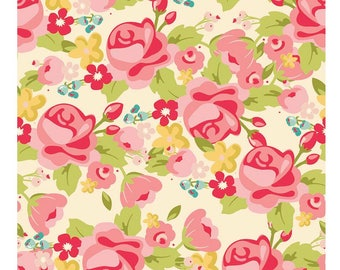 SALE!! 1 Yard Hello Gorgeous by My Minds Eye For Riley Blake Designs - 5690 Main Cream