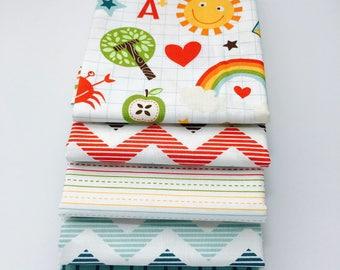SALE! 1/2 Yard  Bundle School Days By Zoe Pearn for Riley Blake Designs- 6 Fabrics