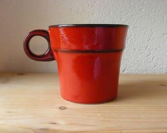 Vintage red ceramic cup