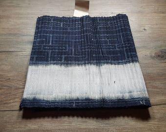 Vintage Hmong batik fabric from Hmong skirt #VB0063