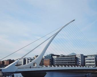 Samuel Beckett Bridge in Dublin, Ireland, travel photography- fine art color photography print; 5x5, 8x10, 11x14 inches