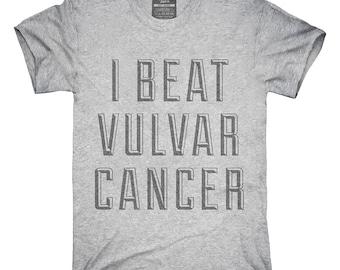I Beat Vulvar Cancer T-Shirt, Hoodie, Tank Top, Gifts