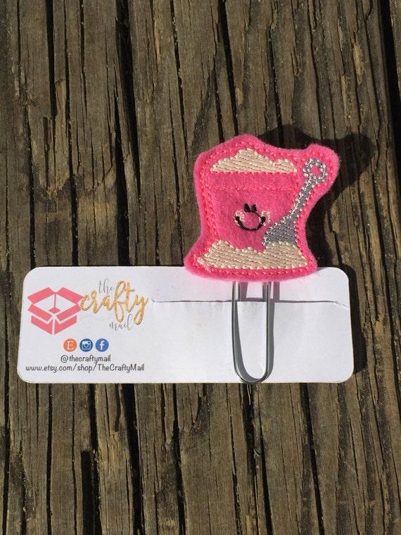 Sand Bucket Clip/Planner Clip/Bookmark. Summer planner clip