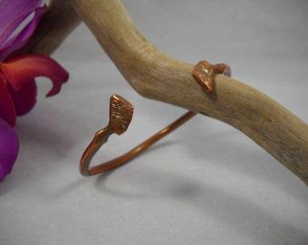 Cuff Bracelet Copper Egyptian Motif