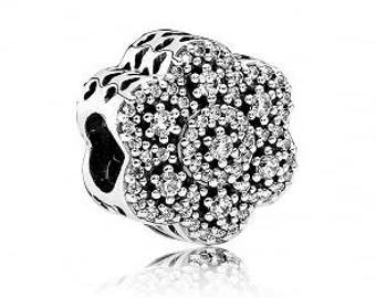 Sterling Silver New Ice Floral Charm