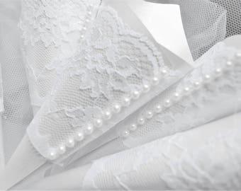 Confetti Cones,  White Confetti cones, Lace petal cones,  Wedding decorations, Confetti Cones, Wedding Confetti