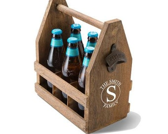 Beer Caddy, Personalized Beer Caddy, Father's Day, Groomsmen Gifts (GC1439)