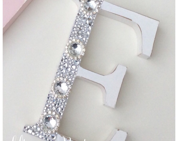Letter | Free standing Pearl and crystal embellished letter size 13cm, Sparkle, Home Decor. Buy 4+ for discount.