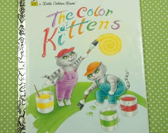 1997 Little Golden Book The Color Kittens