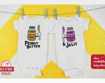 Peanut Butter & Jelly Set, Onesie®, bodysuit, romper, under shirt