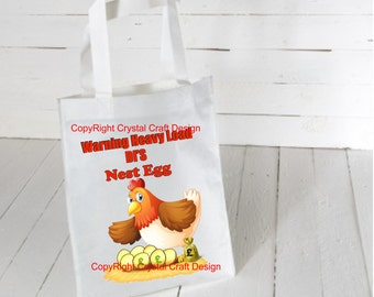 Personalised Nest Egg Tote Shopping Bag