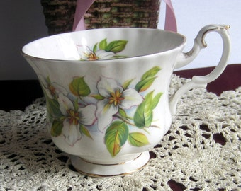 Royal Albert White Trillium Bone China Tea Cup Only - Made in England