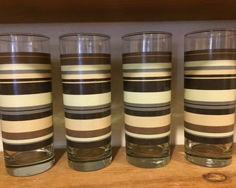 Four vintage glasses
