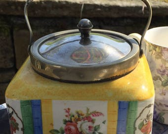 Vintage biscuit barrel