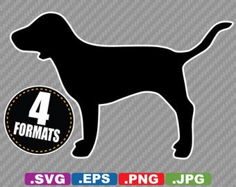 VS Pink Dog Clip Art Image - SVG cutting file Plus eps (vector), jpg, & png - Instant Download - Die Cut Sticker/Decal