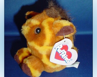 Puffkins Ginger Plush Giraffe 1997 with Tags